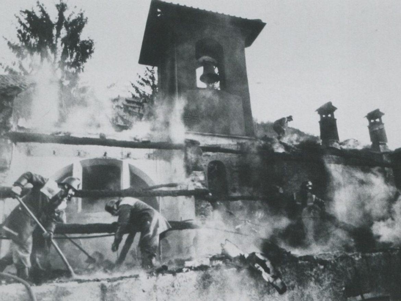 Il Bigorio salvato dalle fiamme